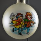 1987 Vintage Campbell Kids Skating Christmas Tree Ornament