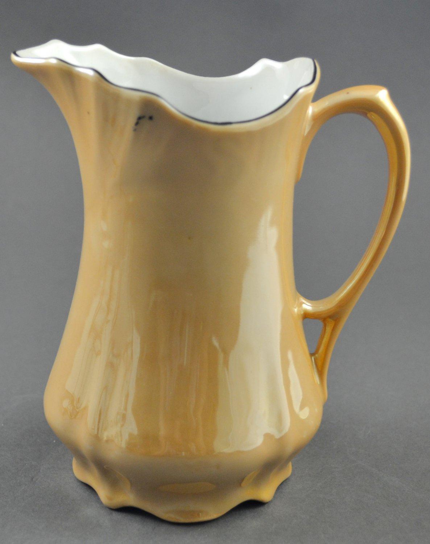 Vintage Lustreware Tan Porcelain Pitcher or Tall Creamer Germany