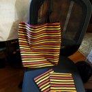 Tote bag set - Autumn Stripes
