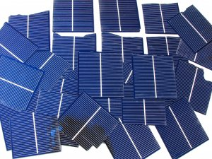 "45+3""x3"" Broken chipped solar cells most 1.45 amps to 180 amps each"