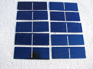 """36 - 1""""x3""""  solar cells not broken little off cut free shipping to us, ca"""
