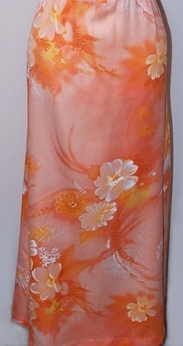 Vintage Hawaii Honolulu Sherbert Sun Maxi Dress Sz 12 B 38