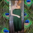 Swinging Emerald Flapper Style Costume Dancer Dress Loaded with Fringes! XL