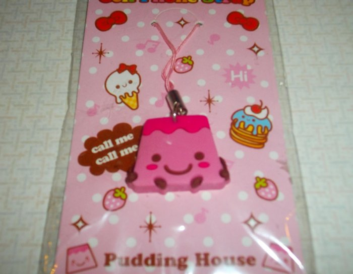 Pink Pudding Flan Cellphone Charm