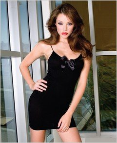 Opaque Mini Dress With Bow - Plus Size