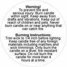 Warning Labels 2 Inch 100 pc. roll