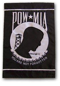POW * MIA Military12� X 18� High Quality Embroidered Garden Banner Flag