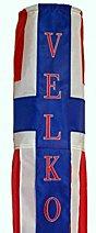 "40"" Velkommen Windsock Flag -Danish greeting  - High Quality � Embroidered"