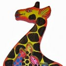 Hand Made Wooden Giraffe with Babies Puzzle - So Beautiful, can be used as Wall Décor!