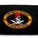 12x18 Pirate Republic Flag - Made in the USA!