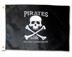 PIRATES FOR HIRE Large 3x5 Boat Flag!