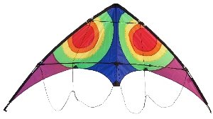 COSMIC ALIEN STUNT KITE - EASY TO FLY - LINE AND WRIST STRAPS INCLUDED