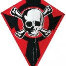 Single Line PIRATE DIAMOND KITE with SKULL and CROSSBONES DESIGN