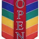 Commercial Retail Store - OPEN - Banner Sign with Rainbow Colors 12x18