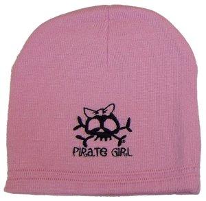 Pirate Girl Bow Knit Cap Beanie