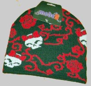 Pirate Girl! - Pirate Knit Cap - Girly Skull Design