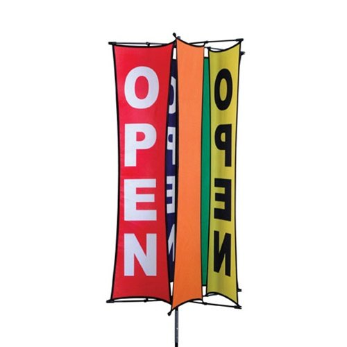 store open spinning sign 25x48 for commercial retail stores pole included. Black Bedroom Furniture Sets. Home Design Ideas