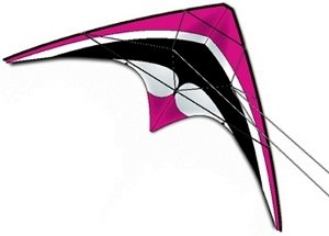 DC Sport 60 Dual Control Stunt Kite - Magenta- Handles and Line Included