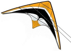 DC Sport 60 Dual Control Stunt Kite - Gold - Handles and Line Included