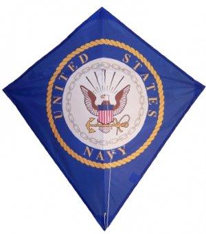 US NAVY Single Line DIAMOND KITE- Line & Handle Included