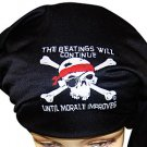 The Beatings Will Continue Until Moral Improves - Pirate Head Wrap /Doo Rag