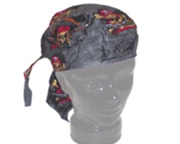 Skulls and Pistols - Pirate / Biker Skull Bandana / Headwrap / Do-Rag