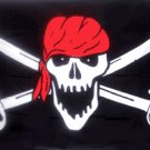 Brethern Pirate Flag 3x5 Boat/Motorcycle