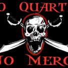No Quarter No Mercy Pirate Flag 3x5  - Boat/Motorcycle