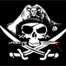 Dead Mans Chest Tri Corner Pirate Flag 3x5 Boat/Motorcycle
