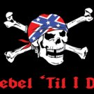 Rebel Till I Die Pirate Flag 3x5 Boat/Motorcycle