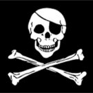 Jolly Roger Pirate Flag 3x5 Boat/Motorcycle