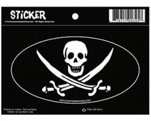 Jack Rackham Oval Pirate Sticker!