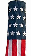 """40"""" United States of America  USA Windsock Flag  High Quality-Embroidered - Military Quality"""