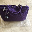 "Quilted Microfiber Laptop Bag, Purple - 14""H x 17""W x 2.5""D"