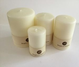 Bougies la Francaise - 4  White Tapers assorted sizes