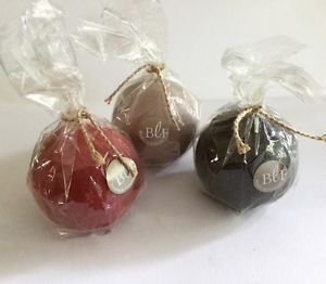 """Bougies la Francaise -3"""" ball candles assorted colors wrapped"""