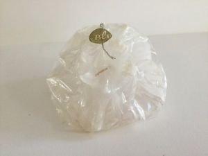 Bougies la Francaise-Large White flower shape individually wrap