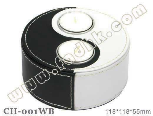 Nice candle holder in PU CH-001WB