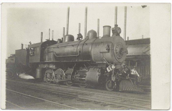 Steam Engine Locomotive circa 1910 RPPC