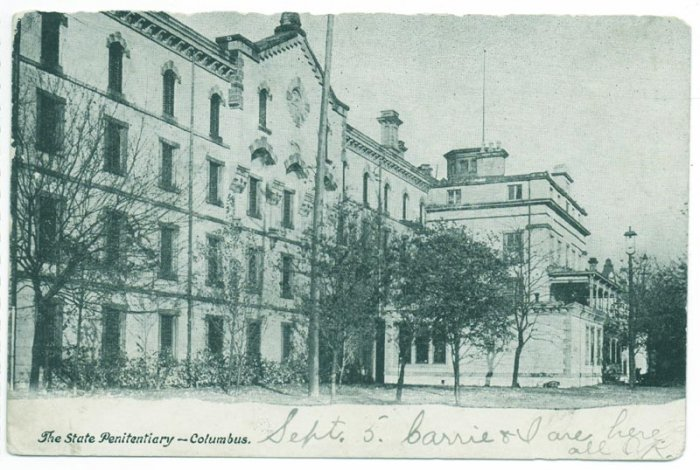 Columbus OH State Penitentiary  c. 1907 Postcard