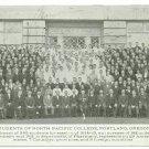 North Pacific College Portland OR c1914 Student Body Postcard
