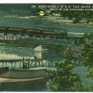 Kilbourn Wisconsin WI Night Scene Railroad Bridge c.1910 Postcard