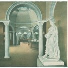 Pomona CA Interior of Library c. 1908 Postcard