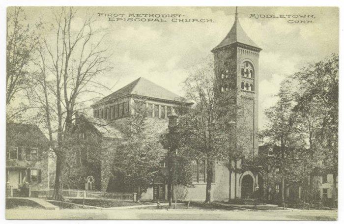 First Methodist Church Middletown CT c. 1910 Postcard