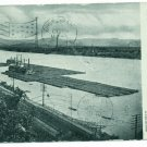 Coal Fleets on Ohio River Pittsburgh PA Postcard