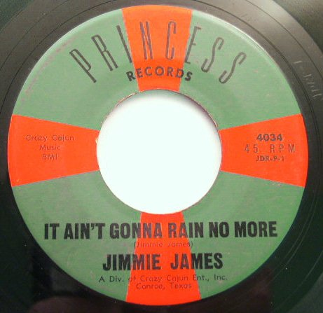 Jimmie James It Ain't Gonna Rain No More 45 rpm