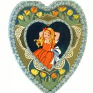 Orig Whitney Made c.1930 Red Haired Gal Valentine Card