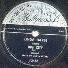 Linda Hayes - Big City - Blues 78rpm