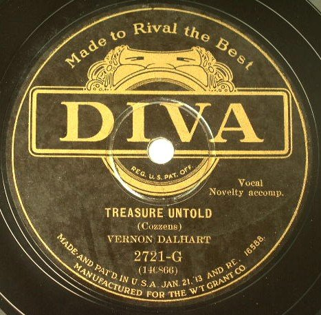 Vernon Dalhart - Treasure Untold / Mother Was A Lady 78rpm