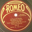 Lynn Cowan - A Lane In Spain / Dixie Music Makers - Sweet Swanee Lady 1926 78rpm